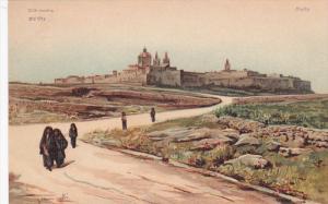 AS, Old City, People Walking, MALTA, 1900-1910s