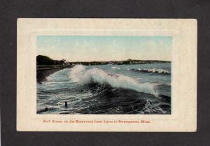 MA Surf Scene Cottages Houses Lynn Swampscott Mass Massachusetts Postcard