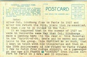 Carte Postale Avec Personnel Story De Lindberg Vol & Concorde Vol Sur 50th Anniv