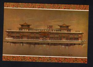HI Oceania Floating Restaurant Artist Painting Honolulu Hawaii Postcard