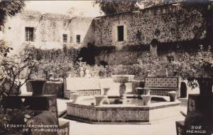RP; Fuente Exconvento de Churubusco, Mexico, 10-20s