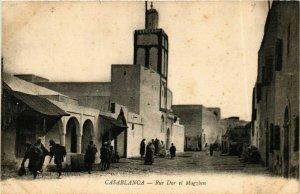 CPA AK CASABLANCA - Rue Dar el Magzben MAROC (796261)
