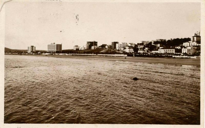 Algeria - Tanger. View of the city from the sea       *RPPC