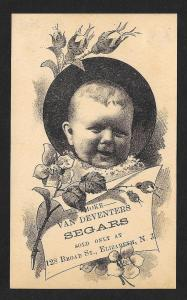 VICTORIAN TRADE CARD Van Deventers Segars (Cigars) Baby