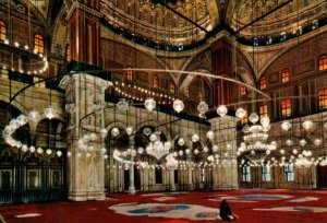 Interior of Mohamed Aly Mosque,Cairo,Egypt BIN
