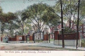 Rhode Island Providence Van Wickle Gate Brown University