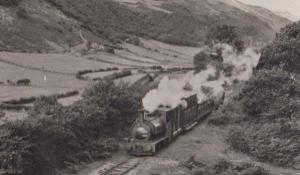 Aerial View of Train in Talyllyn Vintage Welsh Wales Railway Station Postcard