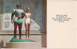 DeLand FL, Ponce de Leon, Beautiful Woman Swimsuit, Roadside America, 1960's Map