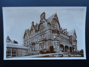 Scotland FORT WILLIAM The Highland Hotel - Old RP Postcard by J.B. White Ltd
