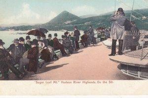 Sugar Loaf Mt. Hudson River Highlands. On the Steamer , New York , 00-10s