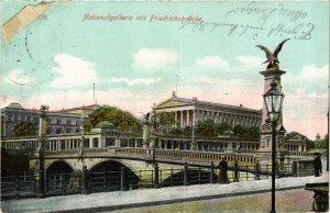 CPA AK BERLIN Nationalgalerie mit Friedrichsbrücke GERMANY (980322)