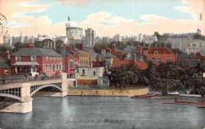 Windsor The Castle and Bridge, Pont Chateau Panorama