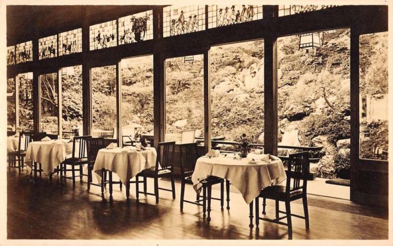 Kyoto Japan Miyako Hotel Dining Room Real Photo Antique Postcard K93133
