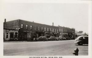 RP: INDIAN HEAD , Saskatchewan , Canada , 1930s ; Main Business Section