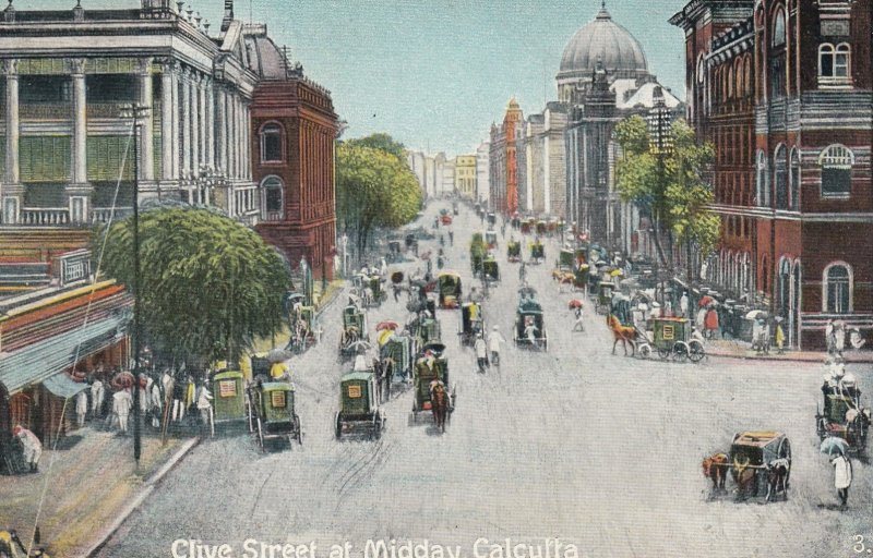 CALCUTTA , India , 1900-10s ; Clive Street at Midday