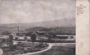 Pennsylvania Altoona General View Of Juniata Shops Pennsylvania Railroad 1911