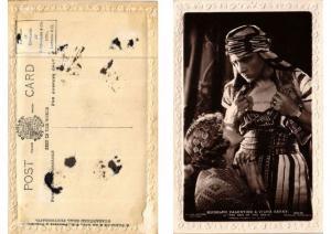 CPA Rudolpf Valentino & Vilma Banky FILM STAR (593621)