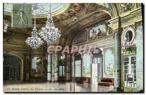 Old Postcard Monte Carlo Casino room celebrations