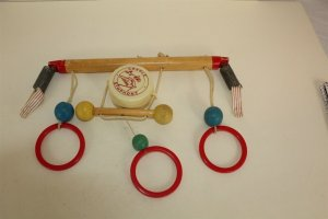 Collectible Vintage Cradle Symphony Wood & Plastic Toy Music Box Works