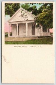 Sterling Massachusetts~Redstone School~c1910 Handcolored Albertype