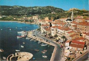 France Postcard Corsica Calvi harbor view promenade sailing boats aerial photo