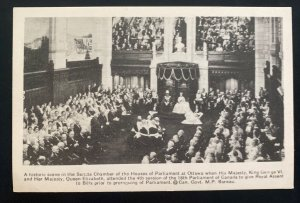 Mint Canada Real Picture Postcard Parlament House Ottawa King George VI