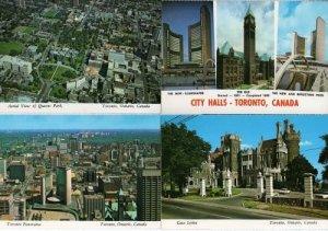 Lot of 4 Views TORONTO ONTARIO CANADA Postcards PC Carte Postale