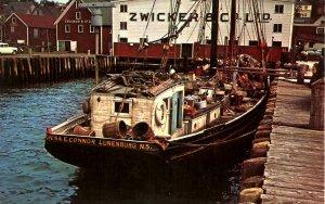 Canada - Nova Scotia, Lunenburg. Dory Schooner at Zwickers Wharf