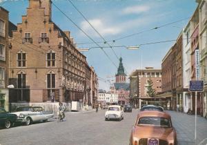 NIJMEGEN, Gelderland, Netherlands, 1950-1970's; Burchtstraat Met Raadhuis