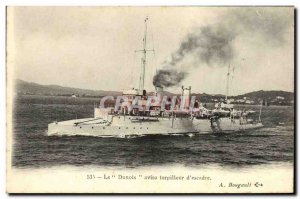 Old Postcard Boat War Dunois The sloop of Torpedo Squadron