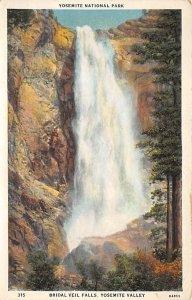 Yosemite national Park Bridal veil Falls, USA National Parks Unused