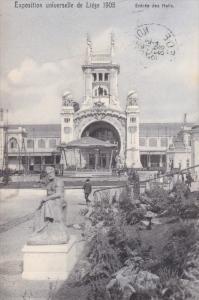 Entree Des Halls, Exposition Universelle De Liege 1905, LIEGE, Belgium, PU-1905