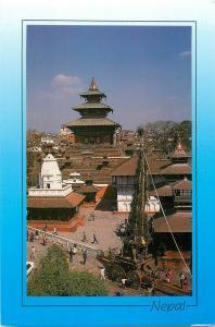 Nepal God Machhindra and Taleju Temple at Kathmandu Durban Square postcard