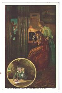 Bell Telephone Guards the Home Advertising Postcard AT&T Safety