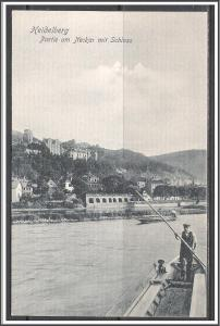 Germany, Heidelberg - Boatman at the Neckar with Castle - [FG-138]
