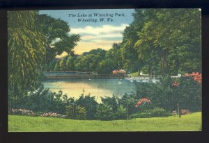 Wheeling, West Virginia/WV Postcard, The Lake At Wheeling Park