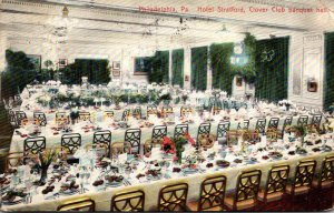 Pennsylvania Philaelphia Hotel Stratford Clover Club Banquet Hall 1908