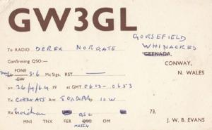 Wales Conway Amateur Radio Club QSL Vintage Welsh Postcard