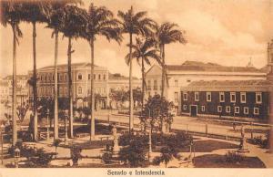 Brazil panoramic view Senado and Intendencia antique pc Z23941