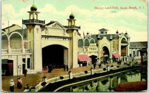 1909 STATEN ISLAND, NY Postcard HAPPY LAND PARK, South Beach Amusement Park