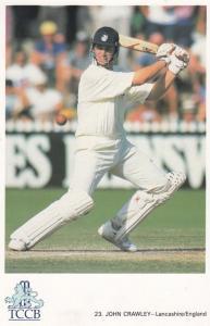 John Crawley Lancashire English International Cricket Player Postcard