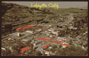 California Aerial View of LAFAYETTE city in the East Bay - Chrome 1950s-1970s