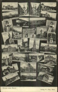 Gruss Aus Bern Switzerland Multi View 1904 Used Postcard