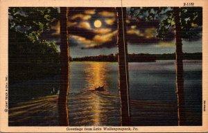 Pennsylvania Greetings From Lake Wallenpaupack 1952 Curteich