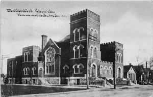Indiana In Postcard HAMMOND 1910 METHODIST CHURCH Building