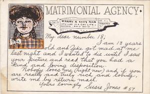 Humour Matrimonial Agency My Dear Number 18