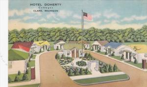 Hotel Doherty Cottages , CLARE , Michigan , 30-40s