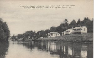 LOCKE MILLS , Maine, 1920-30s; Tea Room Camps, 900 Acres Boating & Fishing