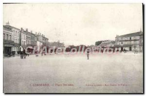 Old Postcard Libourne Place Becazes