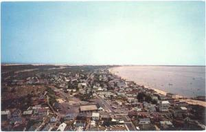 Provincetown Massachusetts from top of Pilgrim Monument, Cape Cod, MA, Chrome